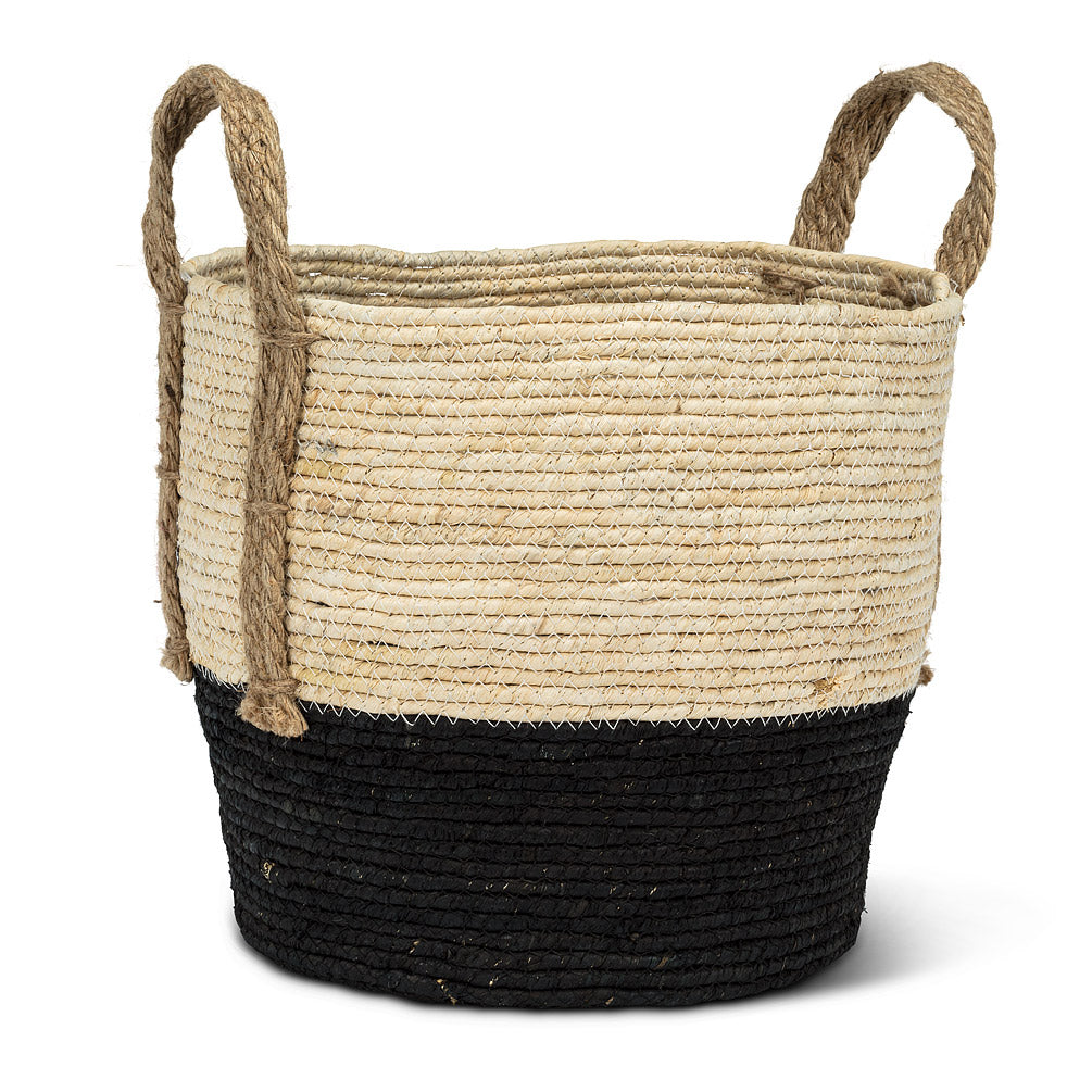 Round Basket with Jute Handles