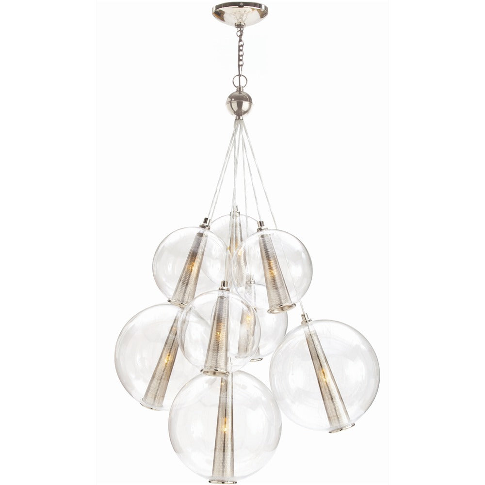 Arteriors - Eight Light Cluster - Laura Kirar for Arteriors - Clear