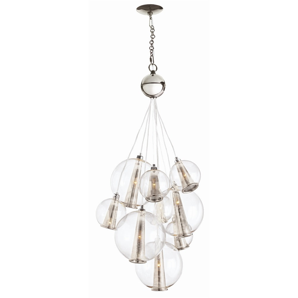 Arteriors - Nine Light Cluster - Laura Kirar for Arteriors - Clear