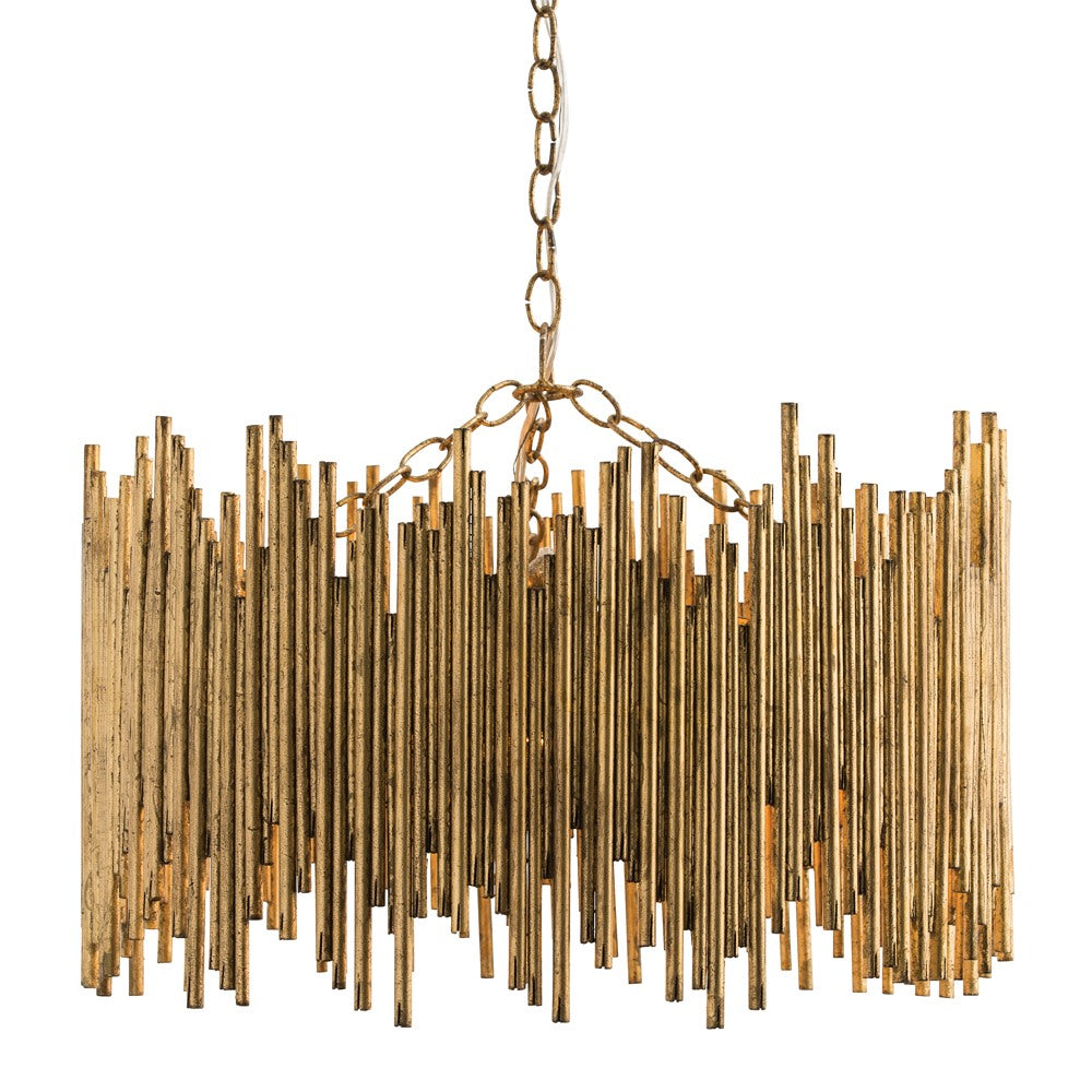 Arteriors - Three Light Pendant - Prescott - Gold Leaf