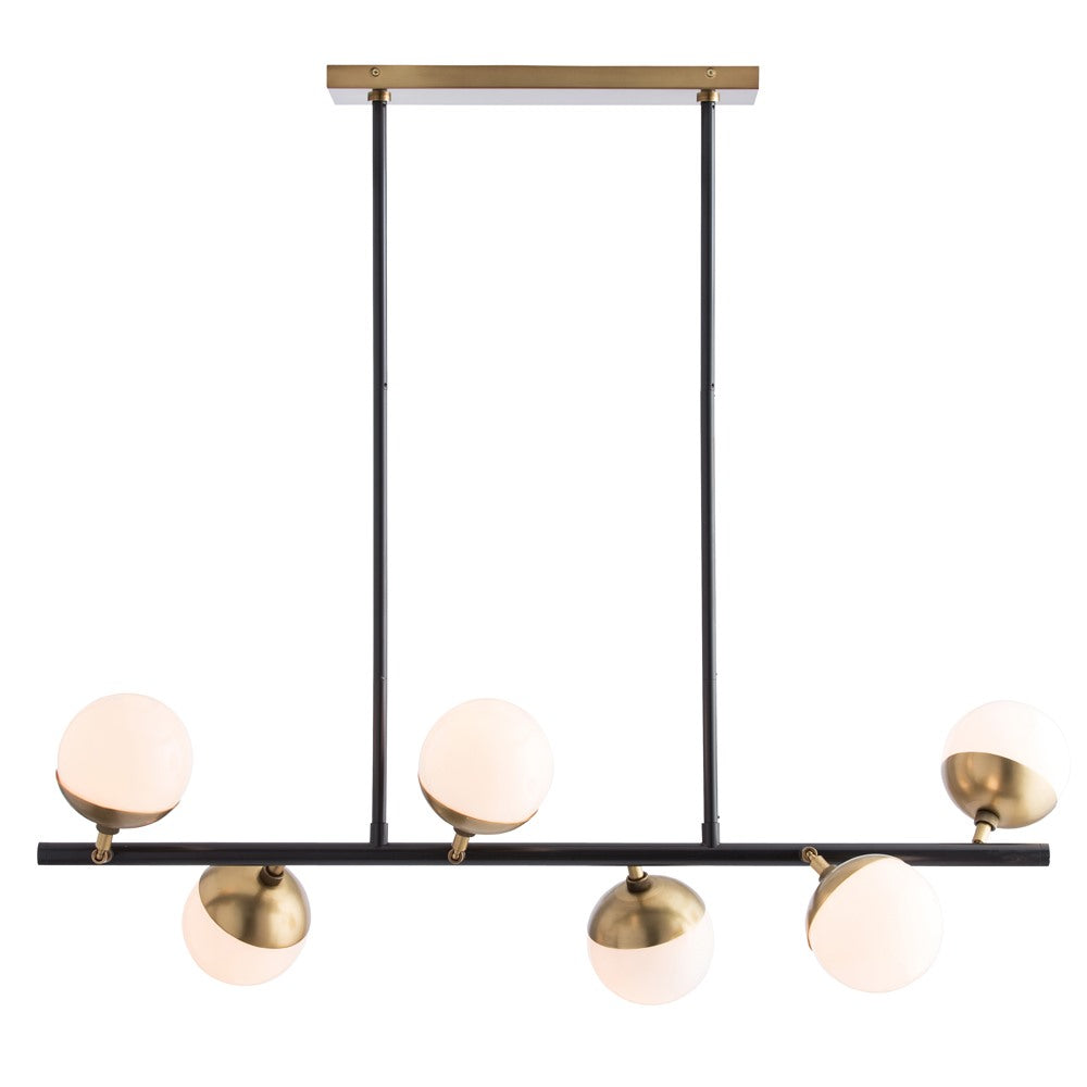 Arteriors - Six Light Chandelier - Wahlburg - Bronze