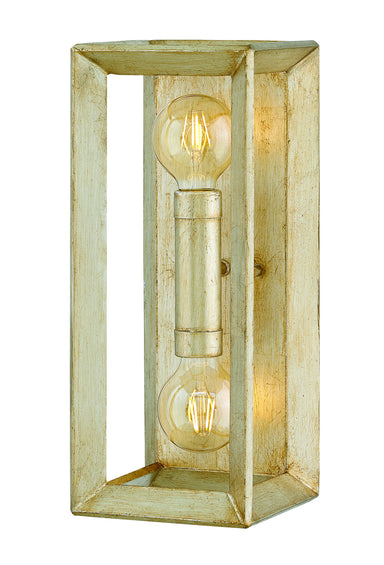 Hinkley Canada - Two Light Wall Sconce - Tinsley - Silver Leaf