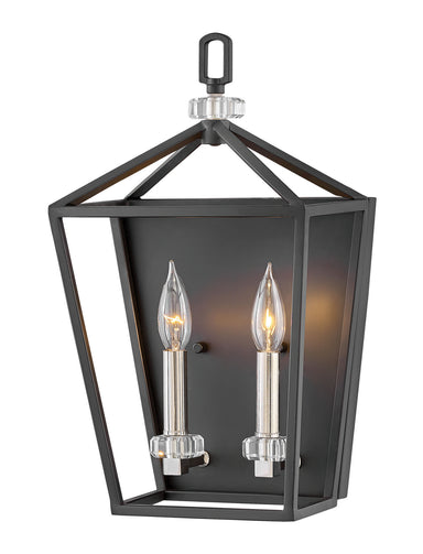 Hinkley Canada - Two Light Wall Sconce - Stinson - Black