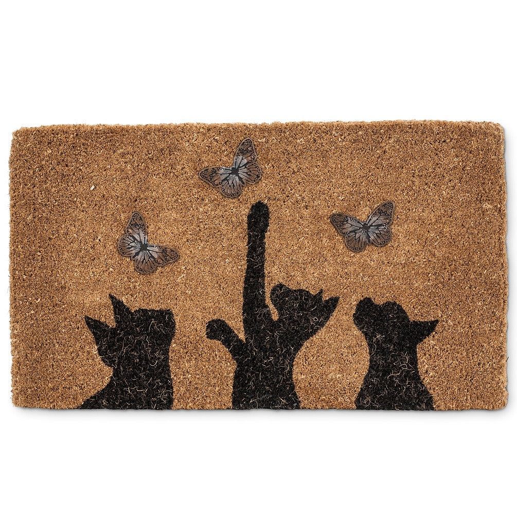 Cat & Butterfly Doormat