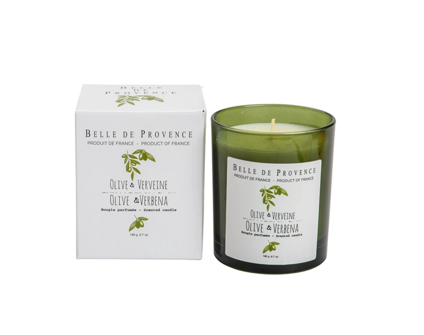 Belle de Provence Olive Oil Collection Scented Candle