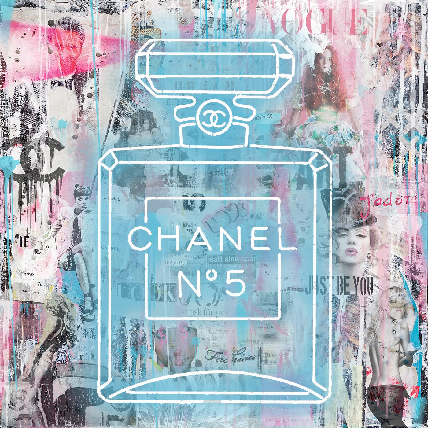 Chanel Blue Neon Lights