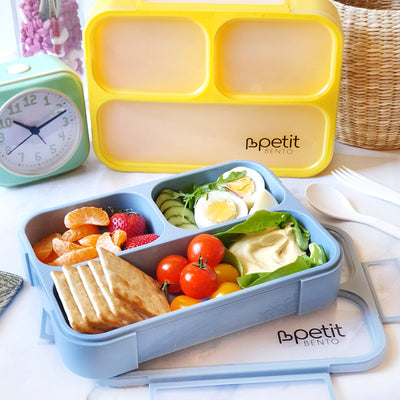 Petit Bento Maxi-Leak Proof Lunchbox with 3 compartments- Including Fork and Spoon