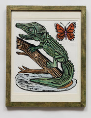 Alligator with Butterfly (AF120)