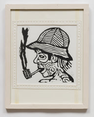 Untitled (AF122 Person in Hat Smoking)