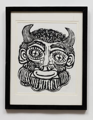 Untitled (AF144 Face Horns Beard)