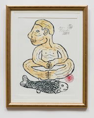 Untitled (AF7 Cross Legged Man with Fish)
