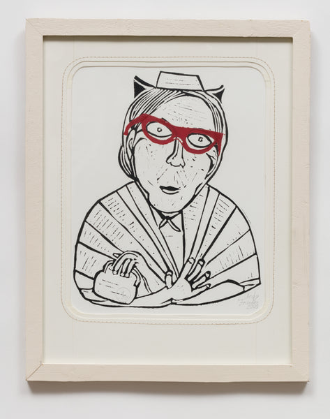 Untitled (AF91 Woman Red Glasses)