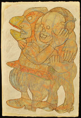 Untitled (Duck and Masked Men Embrace)