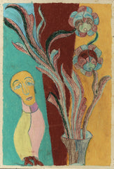 Untitled (Figure Yellow with Flowers JL16)