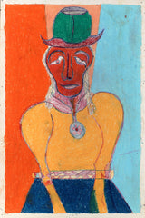 Untitled (Figure Green Hat and Pendant JL06)