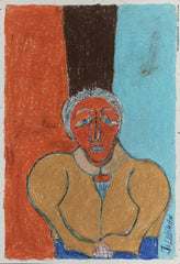 Untitled (Figure Orange Brown Turquoise JL08)