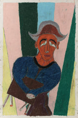 Untitled (Figure Seated with Brown Hat JL19)