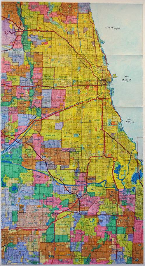 Metropolitan Chicago and Southern Suburbs Area Street Map ...