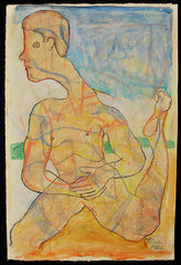Untitled (Long Neck Nude Male)