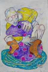 Untitled (Man In Orange Boots With Purple Floaty)