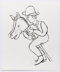 Untitled (AF Print33 Man Riding Hobby Horse)