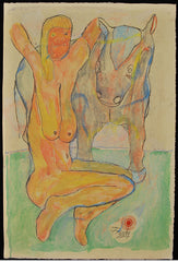 Untitled (Nude Blonde with Horse)