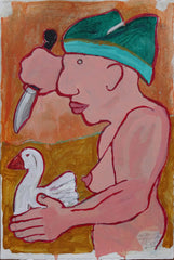 Untitled (Nude With Duck And Knife)