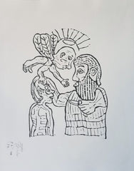 Untitled (AF Print15 Abraham and Isaac with Angel)