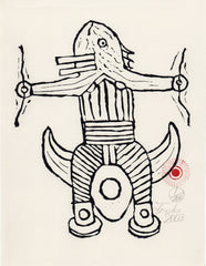 Untitled (AF Print6 Tribal Fish Totem)