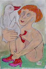 Untitled (Redhead Nude With Duck)