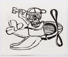 Untitled (AF Print24 Skull with Hat in Plane)