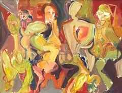 Untitled (Four or Five Dancing Figures)
