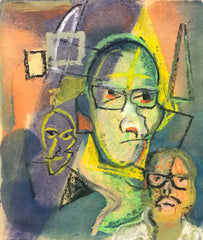 Untitled (Self Portrait Easel Other Faces)