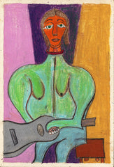 Untitled (Figure Seated Female with Guitar JL11)