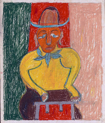 Untitled (Figure with Hat Blue Scarf JL04)
