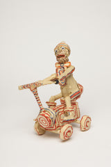 WH03 (Monkey with Striped Hat Riding on Scooter)