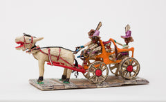 Untitled (WH239 four figures carriage horse purple hats)