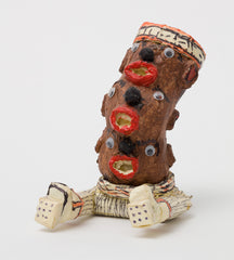 Untitled (WH241 three head totem sitting)