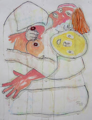 Untitled (Woman And Yellow Man Embrace)