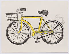 Yellow Bicycle Draftsmanly (AF Print37)