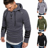 2020 men's casual hooded pullover sweatshirt