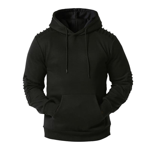 2020 hollow men's sports casual pullover hooded sweater