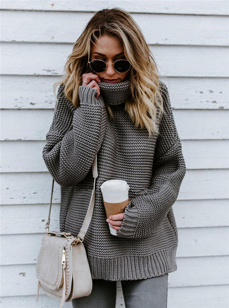 2020 Women Autumn Winter Turtleneck Sweaters Pullover