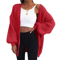 Chunky Oversized Loose Bell Sleeve Cable Knit Cardigan Knitwear