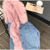 Fur Denim Jacket
