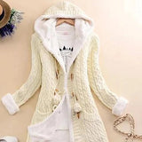 Cashmere Warm Hooded Coat
