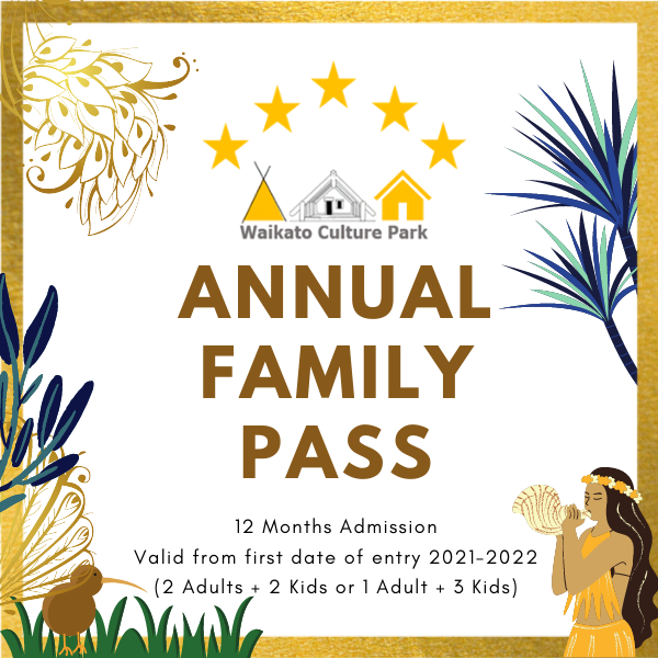 Annual Family Pass (Up to 4 family members. Kids under 5 free. Seniors over 75 free.)