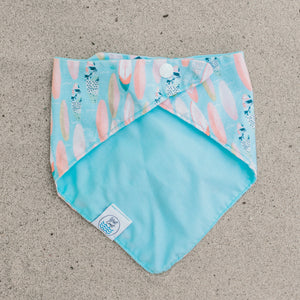 Back view of Hang 10 Dog Bandana created by West Coast Wag Co.