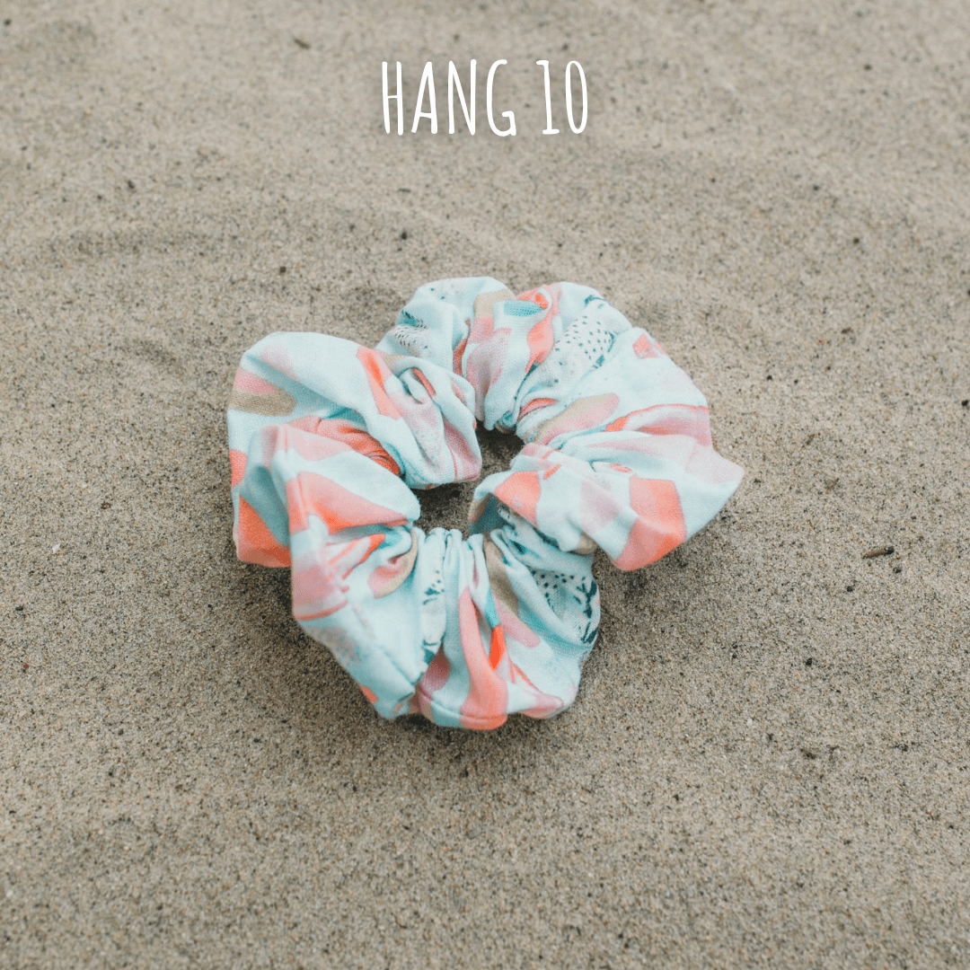 Dog mom scrunchie in Hang 10 print by West Coast Wag Co.