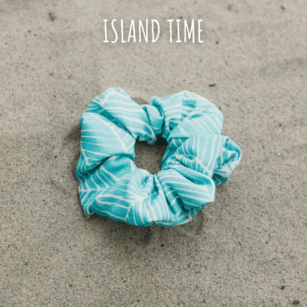 Dog mom scrunchie in Island Time print by West Coast Wag Co.